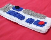 R2-D2 Inspired Crochet Earwarmer Headband