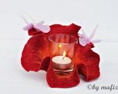 light light lamp for terrace balcony for apartment felt blossom candle light candle holder for garden party