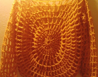 Crochet Circular Mesh Top
