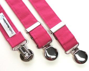 Suspenders - Pink Adjustable Suspenders