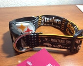 Dog Collar....GO STEELERS...let your critter show their team pride