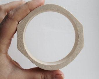 20 mm Wooden bracelet unfinished rounded rectangular - natural eco friendly-RR20