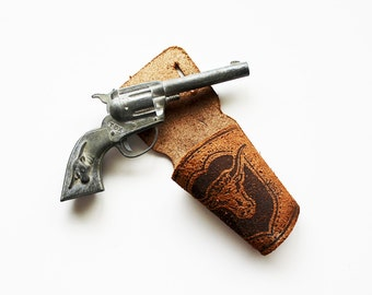 Playin Cowboy - Vintage Hubley Tex Cap Gun Holster Fine Art Photography Print - Kids - Western - Vintage Toy - Men- Brown - Country - Rusti
