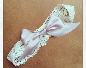 Garter Belt with blush pink bow