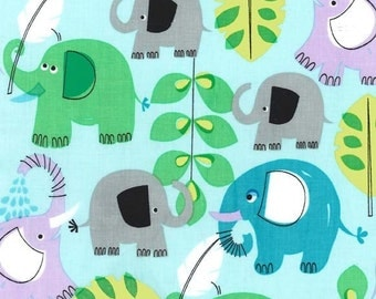 Pachyderm Shower in Aqua - for Michael Miller - by the yard