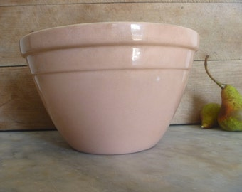 Vintage Mixing Bowl, faded pink with 1940's charm and nostalgia