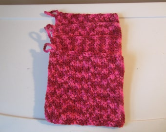 """7"""" CANDY PRINT CROCHETED Pot Holders in a Set of 4"""