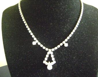 Vintage 1960s Continental Rhinestone Necklace