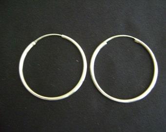 Large Loop Sterling Silver Earrings