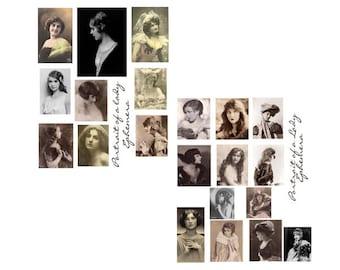 Portrait of a Lady Digital Collage Set