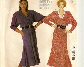 "A 1920s Style Shirtwaist Dress w/ Raglan Sleeves & Flared 6-Gore Skirt Pattern for Women: Sizes 8-10-12, Bust 31-1/2"" - 34"" • McCall's 2765"