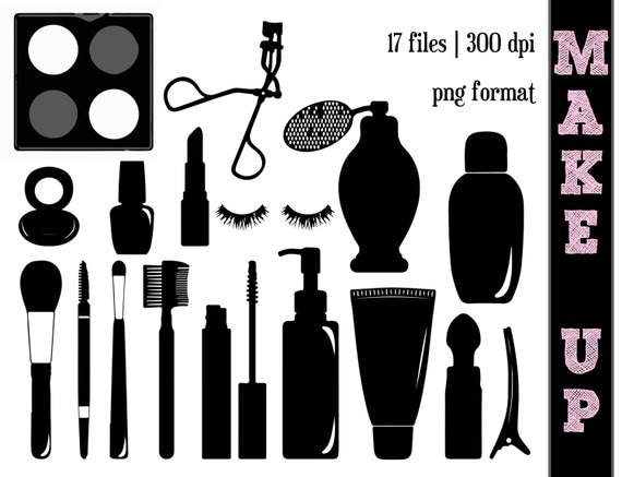 Make Up Silhouettes Make Up Silhouette Perfume Clipart