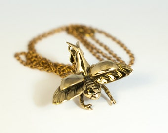 Stag Beetle Pendant with Chain (JB-P-001)