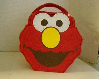 "Sesame Street Felt ""Elmo""Purse"