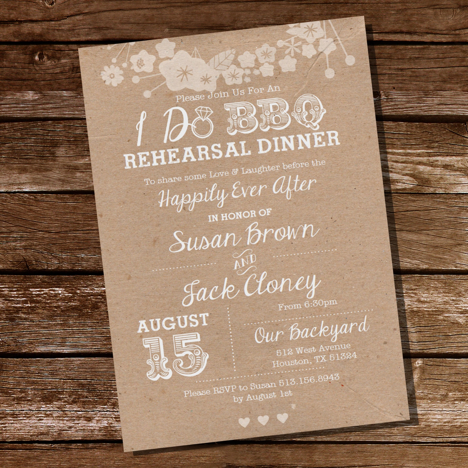 Rehearsal Dinner: I Do BBQ Rehearsal Dinner Invitation Instant Download And
