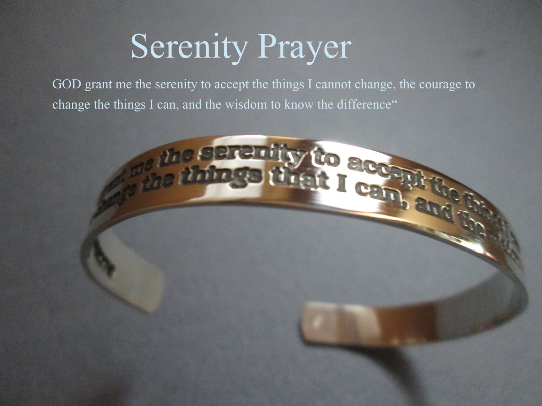 serenity prayer bracelet solid sterling silver not plated
