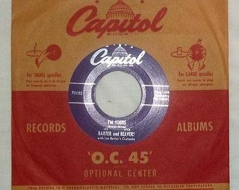 Vintage 45 RPM Vinyl Capitol Record Baxter and Beavers