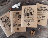 Fandom Jots Pocket Notebooks: House Troublemakers (set of 4 notebooks)