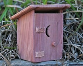Fairy Garden Outhouse (Red Cedar)