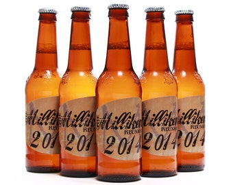 Family Reunion Favors, Reunion Ideas, Beer Bottle Labels, Sandstone Custom Label