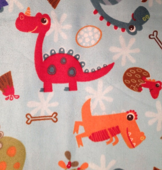 Flannel colorful baby dinosaurs dinosaur fabric for Baby dinosaur fabric