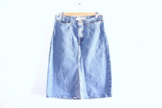 90s gap denim skirt 90s pencil skirt 90s grunge by lsbmarket