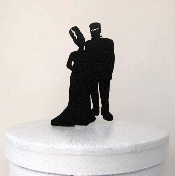 Wedding Cake Topper Halloween Wedding Cake Topper By
