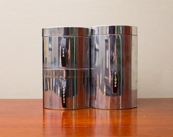 Kromex Coffee Tea and Flour Tins