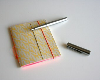 Letterpers notebook handmade with giraffe pattern