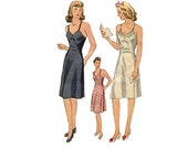 40s Maternity Dress Pattern Simplicity 4627 Junior Size 13 Bust 31 Wrap Skirt Slip 1940s Vintage Sewing Pattern Uncut