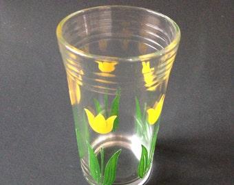 Vintage tulip swanky swig glass