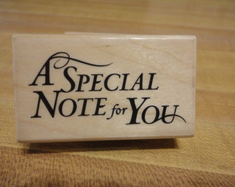 Inkadinkado Asian A Special Note for You Rubber Stamp