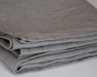 Linen bath towel, rustic washed natural gray wrinkled organic flax burlap bath sheet, vintage look spa towel, beach towel