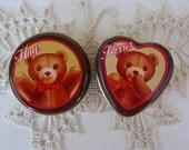 1983 Hugs & Kisses Tins Teddy Bear