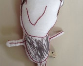 Your child's drawing as a personalised fabric doll - medium size