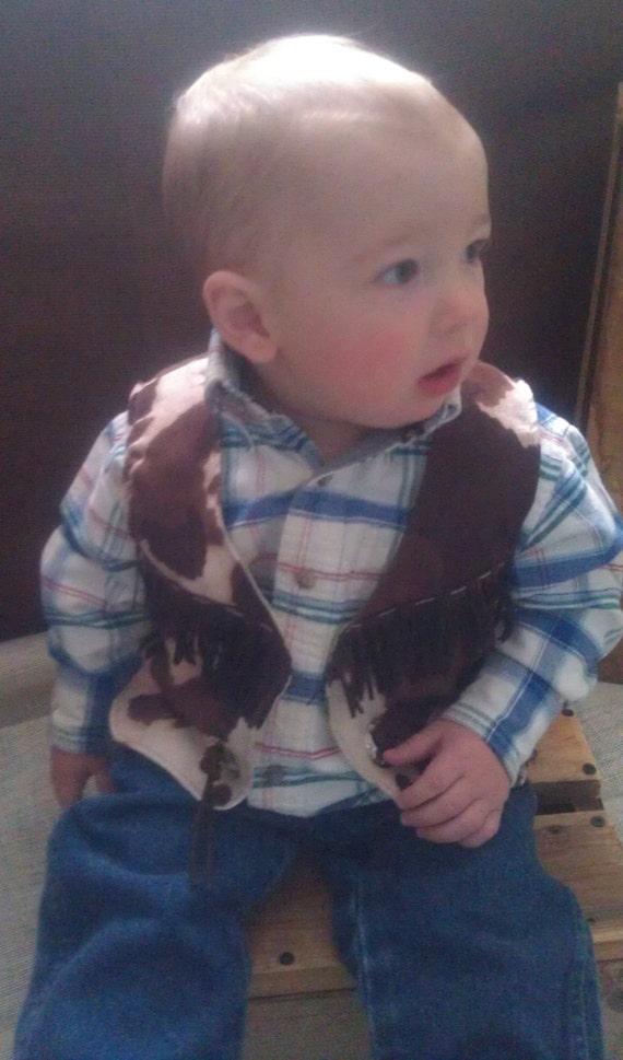 Infant Baby Toddler Western Vest Cowboy Lilwesternworks
