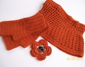 Dahlia crochet gloves and neck warmer pattern