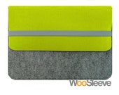 "15"" inch Apple Macbook Pro with Retina Display Sleeve Case Cover Laptop Sleeve Case Cover --Lime Green & Light Grey"