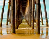 Beach Photography - Ocean Photo - Pier Photo - Beach Decor - Dramatic Art 8x12 12x18 16x24 24x36 - Photography