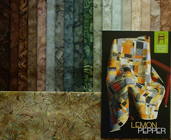 Lemon Pepper 56 X 63 Large Throw Cotton Batik