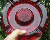 Ruby Red Eagle Ashtray