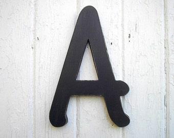 Popular items for big wood letter on etsy for Large black wooden letters