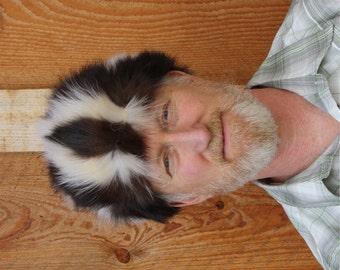 Skunk Daniel Boone Style Fur Hat
