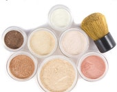 Mineral Makeup Kit  Pure Natural Vegan Makeup 9pc FRESH START Kit - Beneficial Minerals