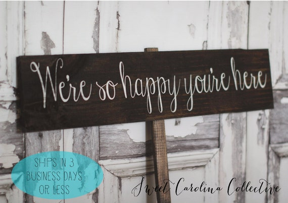 Rustic Wedding Signage, Wooden Wedding Welcome Sign, Wedding Signs WS-18