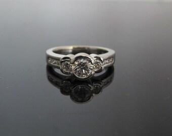 GIA Platinum 0.48ct  Diamond Engagement Ring