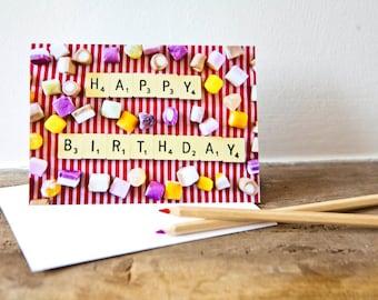 Dolly Mixture Happy Birthday Card