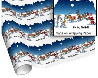 Zombies attack Santa Wrapping paper