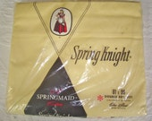 Vintage Yellow Bed Sheet NIP Full Flat New in Package. Springmaid Luxury Muslin.