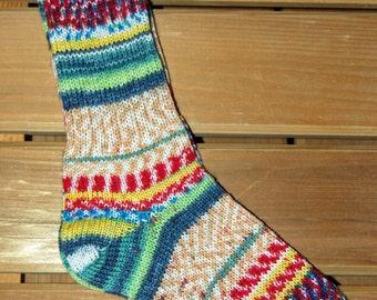 Ladies multi-colored socks, size small (022214)